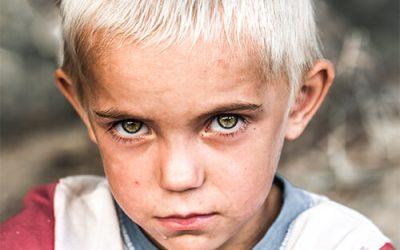 Children affected by war trauma